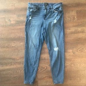 Celebrity Pink High Rise Distressed Jeans Size 18